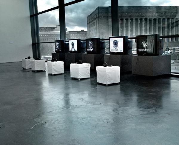 Karri Kuoppala: Helsinki Black Book (2005), installation view,